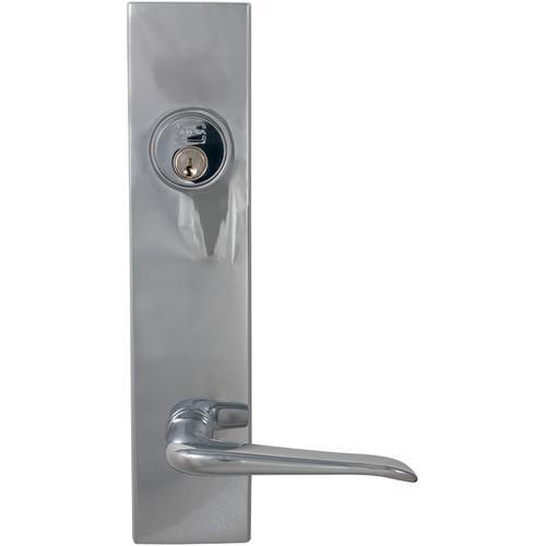 Exterior Modern Deadbolt Entrance Lever Lockset in (US26 Polished Chrome Plated)