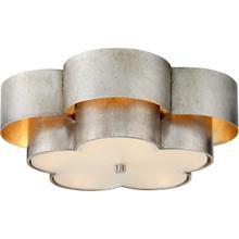 View Product - AERIN Arabelle 4 Light 20 inch Burnished Silver Leaf Flush Mount Ceiling Light, Large