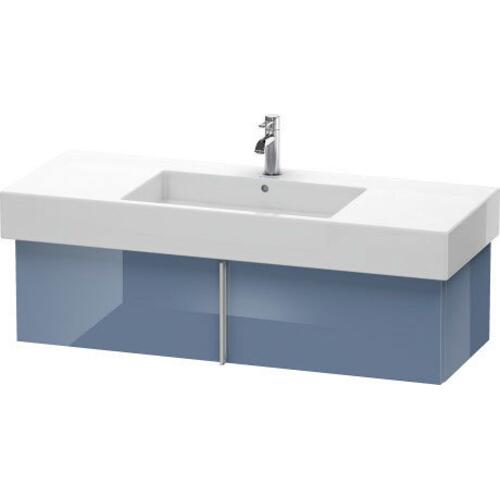 Duravit - Vanity Unit Wall-mounted, Stone Blue High Gloss (lacquer)