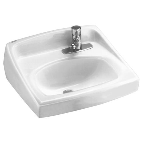 American Standard - Lucerne Wall Mounted Sink with Right Side Faucet Hole - White