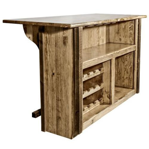 Homestead Collection Deluxe Bar with Foot Rail, Stain and Lacquer Finish