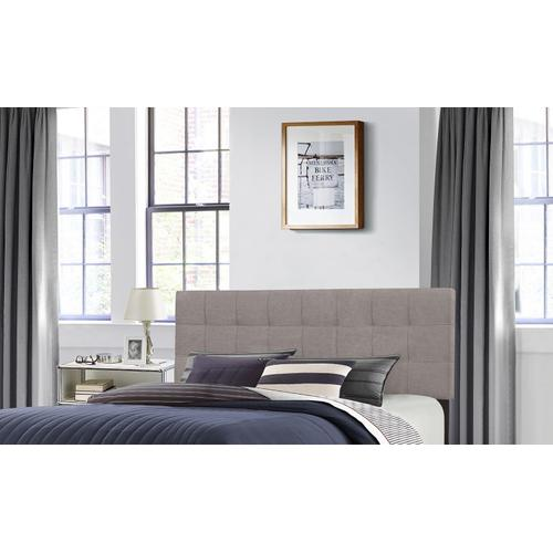 Delaney King Upholstered Headboard With Frame, Stone