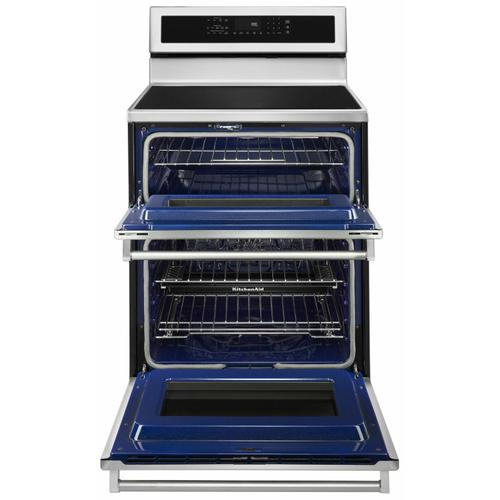 KitchenAid - 30-Inch 4-Element Induction Double Oven Convection Range - Stainless Steel