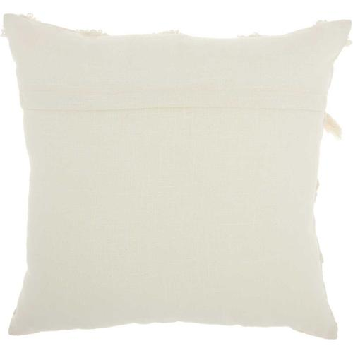"""Life Styles Ns806 Ivory 18"""" X 18"""" Throw Pillow"""