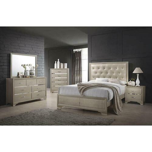 Beaumont Transitional Champagne Eastern King Bed