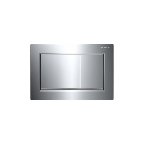 Omega30 Dual-flush plates for Omega series in-wall toilet systems Polished chrome with matte chrome accent Finish