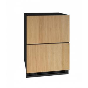 "U-LineHdr124 24"" Refrigerator Drawers With Integrated Solid Finish (115v/60 Hz Volts /60 Hz Hz)"