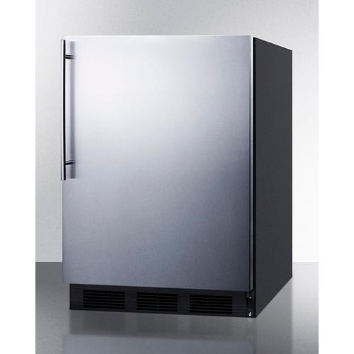 Product Image - Commercially Listed Freestanding All-refrigerator for General Purpose Use, Auto Defrost W/ss Wrapped Door, Thin Handle, and Black Cabinet