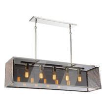 See Details - Pendant, Polished Nickel/smoke Mirror Glass Shd, E27 V 60wx5