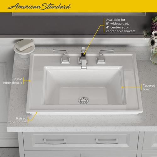 American Standard - Town Square S Drop-In Bathroom Sink 8-inch Centers  American Standard - White