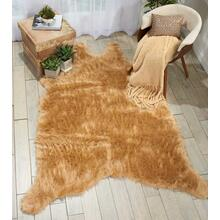 "Fur Fl101 Beige 60"" X 84"" Throw Blanket"