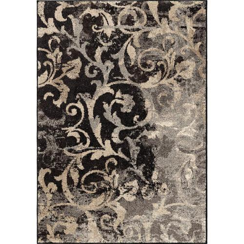 "4324 5x8 Distressed Scroll Taupe 5'3"" x 7'6"" American Heritage"