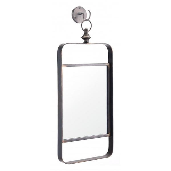Vertical Rectangle Mirror Black
