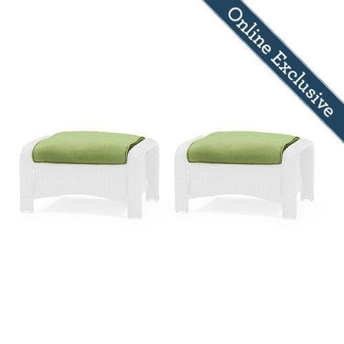 Sawyer Ottoman Replacement Cushion (Set of 2), Cilantro Green