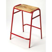 Everybody likes to entertain and this stool is perfect to gather around your kitchen island or counter. The easy-to-use handle means you can use it anywhere you need extra seating. Made of iron and mango wood.