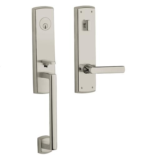 Polished Nickel with Lifetime Finish Soho Escutcheon Handleset