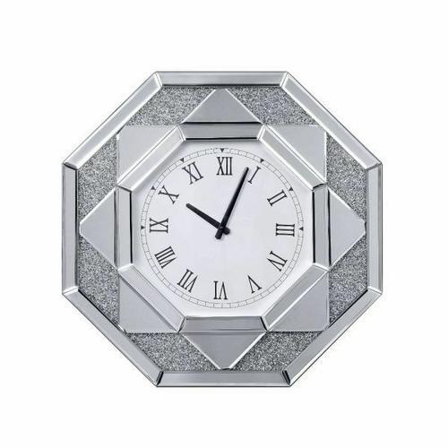 ACME Maita Wall Clock - 97613 - Mirrored