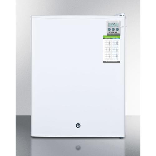 Product Image - Compact Commercially Listed Manual Defrost All-freezer With Alarm, Hospital Grade Cord, External Thermometer and Lock