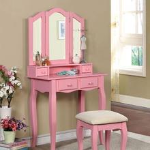 Janelle VANITY W/ STOOL, Pink