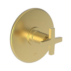 Satin Gold - PVD Balanced Pressure Shower Trim Plate with Handle. Less showerhead, arm and flange.