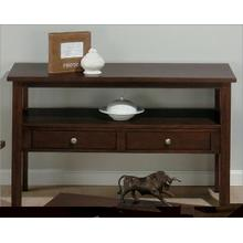 View Product - Sofa Table W/ 2 Drawers and Shelf
