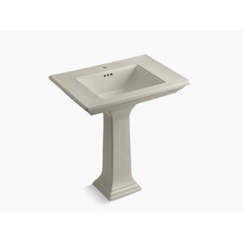"Sandbar 30"" Pedestal Bathroom Sink With Single Faucet Hole"