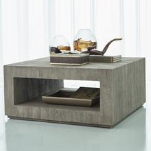 See Details - Driftwood Square Coffee Table-Grey