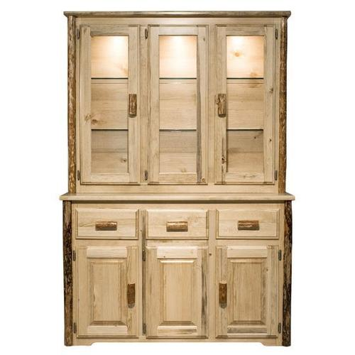 Montana Woodworks - Glacier Country Collection China Hutch and Sideboard