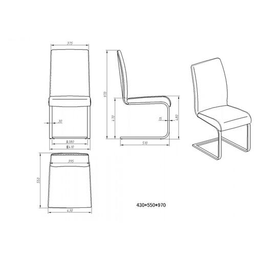 VIG Furniture - Crane - Modern White Dining Chair (Set of 2)