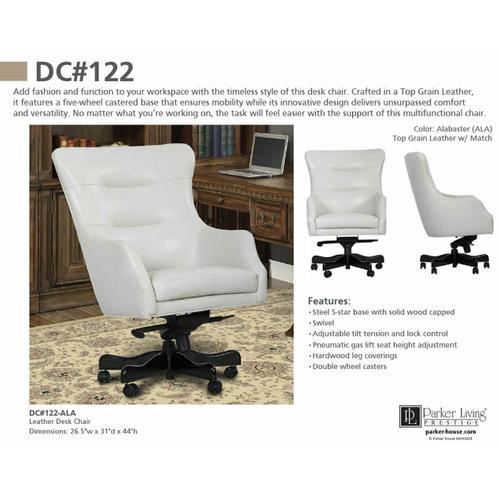 Parker House - DC#122-ALA - DESK CHAIR Leather Desk Chair