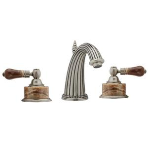 REGENT Widespread Faucet Brown Onyx K371 - Satin Gold with Satin Nickel