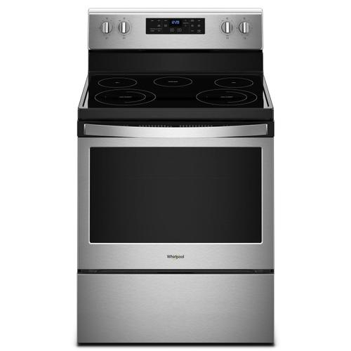 5.3 cu. ft. Freestanding Electric Range with Frozen Bake Technology Fingerprint Resistant Stainless Steel
