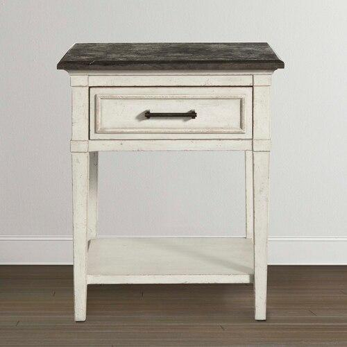 Bassett Furniture - Bella Stone Top Bedside Table