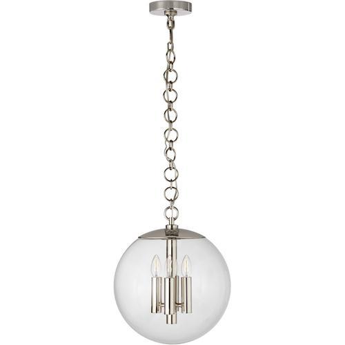 AERIN Turenne 4 Light 14 inch Polished Nickel Globe Pendant Ceiling Light, Medium