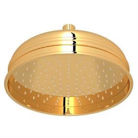 "Italian Brass 8"" Bordano Rain Anti-Calcium Showerhead"