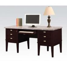 Desk W/white Marble Top