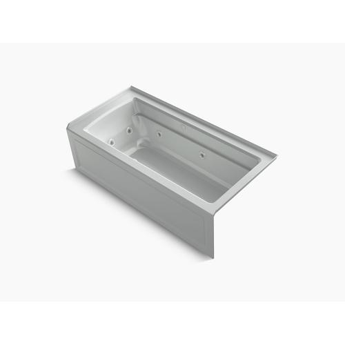 "Ice Grey 66"" X 32"" Integral Apron Whirlpool + Heated Bubblemassage Air Bath With Right-hand Drain"