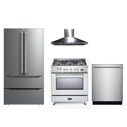"Verona - White 36"" Dual Fuel Single Oven Range - Prestige Series"