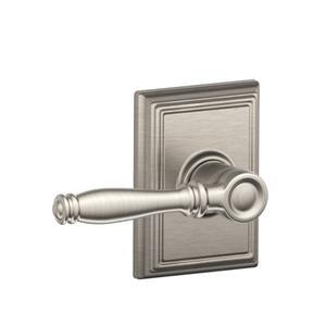 Birmingham Lever with Addison Trim Hall & Closet Lock - Satin Nickel Product Image