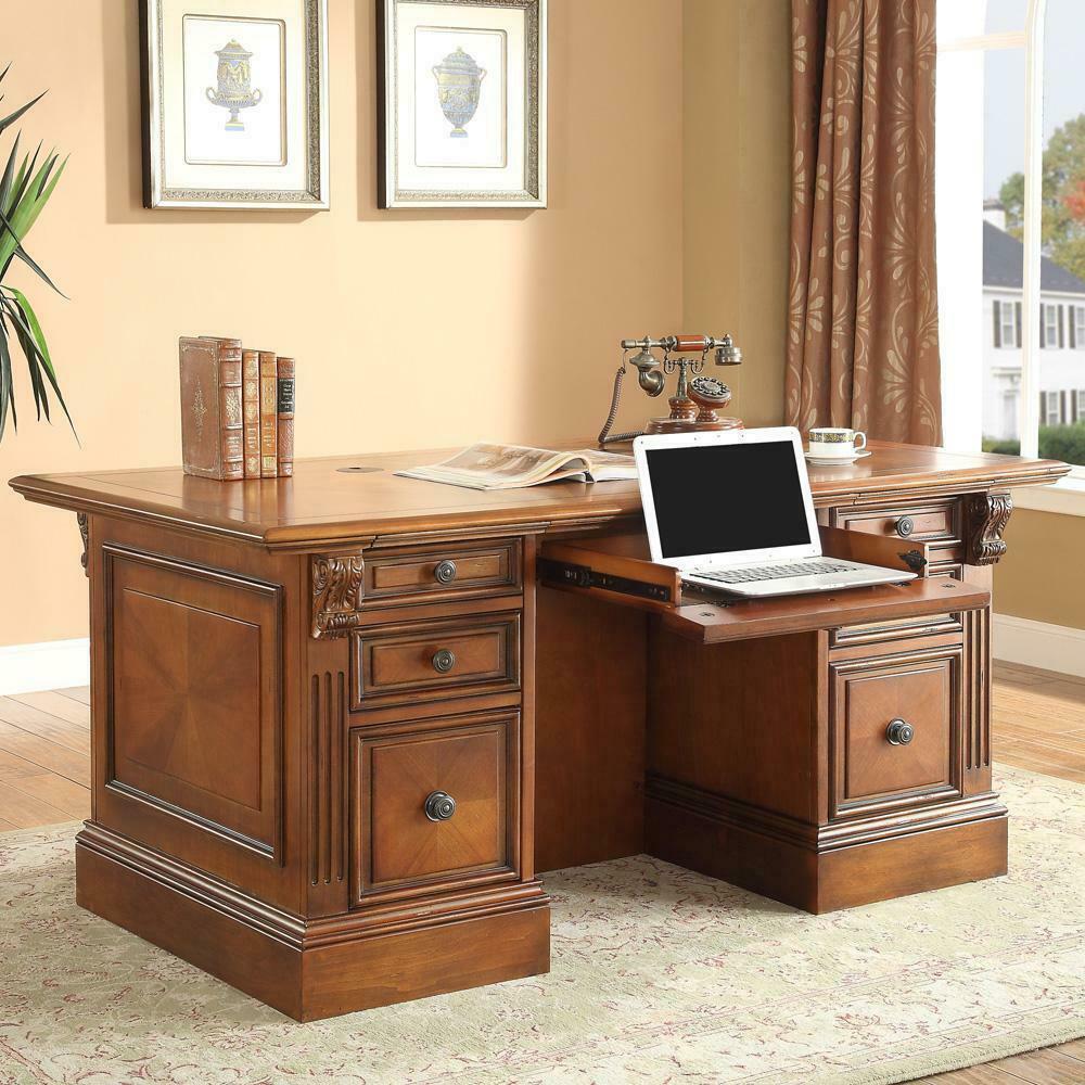 See Details - HUNTINGTON Double Pedestal Executive Desk