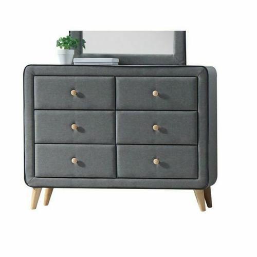 ACME Valda Dresser - 24525 - Light Gray Fabric
