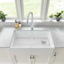 See Details - Avery 33 x 20 Single Bowl Farmhouse Kitchen Sink  American Standard - Alabaster White