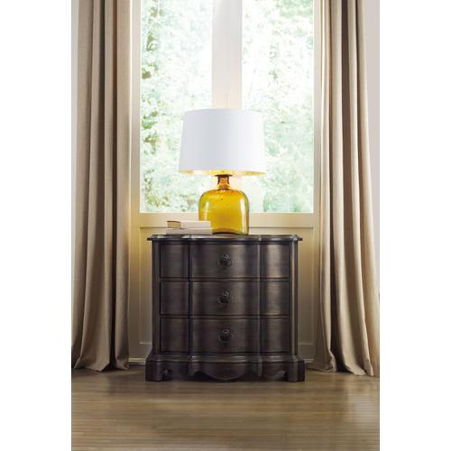 Bedroom Corsica Dark Three Drawer Nightstand
