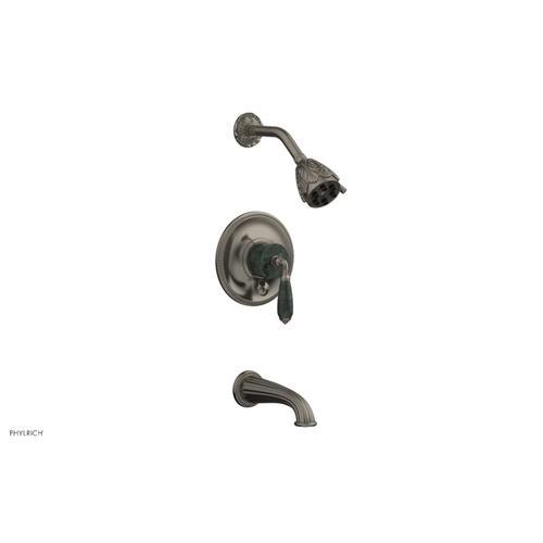 VALENCIA Pressure Balance Tub and Shower Set PB2338F - Pewter