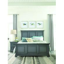 Queen Bed in Mineral Gray