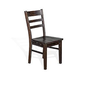 Ladderback Chair, Wood Seat