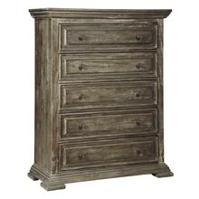 Wyndahl Five Drawer Chest Rustic Brown
