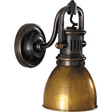 E. F. Chapman Yoke 1 Light 5 inch Bronze Suspended Wall Sconce Wall Light in Hand-Rubbed Antique Brass