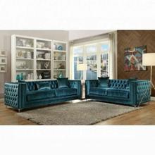 ACME Gillian Sofa w/3 Pillows - 52790 - Dark Teal Velvet