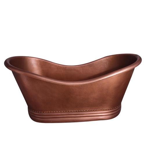 "Amara 72"" Copper Double Slipper Tub"
